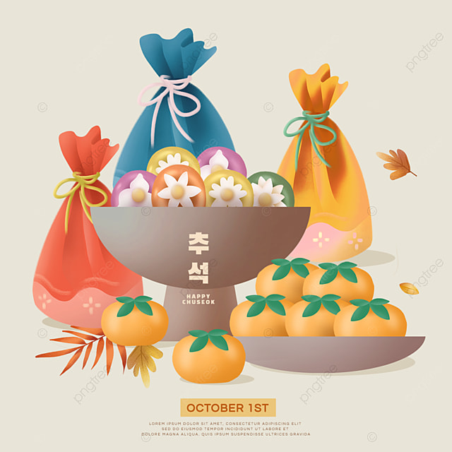 korean mid autumn festival yellow persimmon bag social media sns