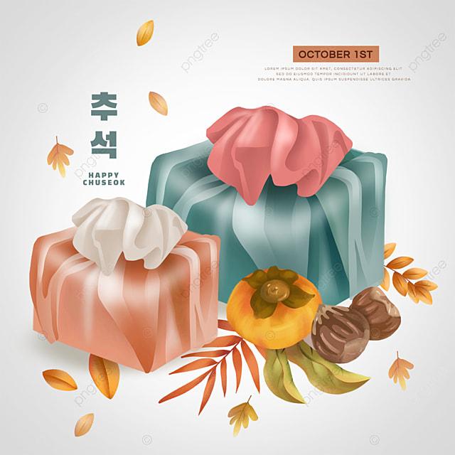 korean mid autumn festival yellow persimmon social media gift bag sns