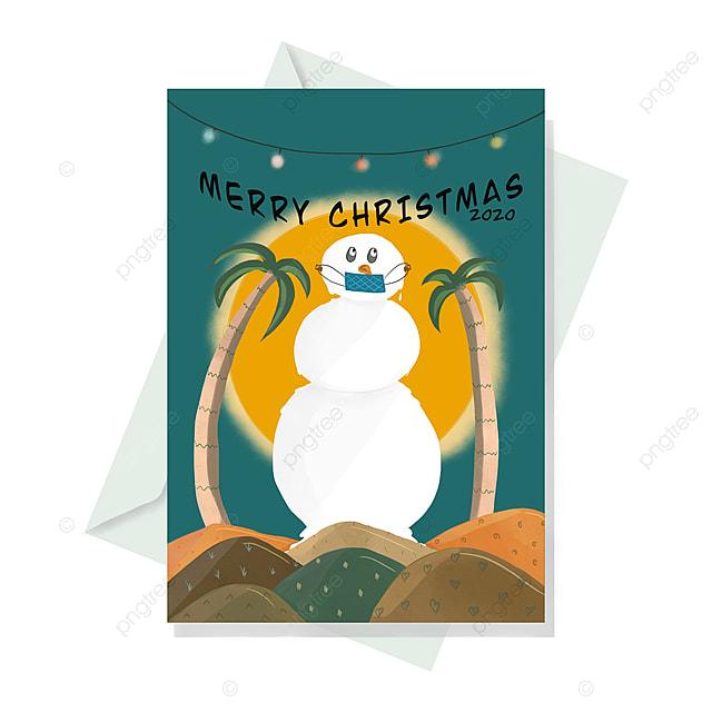 Corona Christmas Commercial 2020 Christmas Card 2020 Hand Drawn Corona Snowman With Mask Template