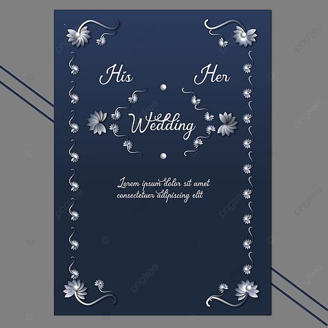 Wedding Card Editable Invitation Template Free Download Gorgeous Blue Template For Free Download On Pngtree
