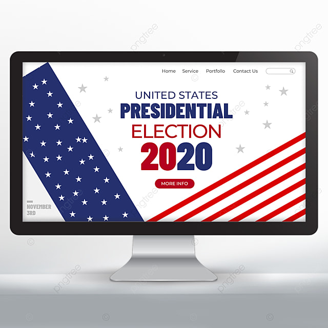 Blue And Red United States Presidential Election Web Design Template For Free Download On Pngtree