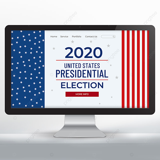 Red Stripes United States Presidential Election Web Design Template For Free Download On Pngtree