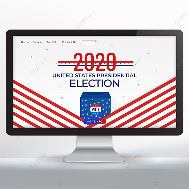 Simple United States Presidential Election Web Design Template For Free Download On Pngtree