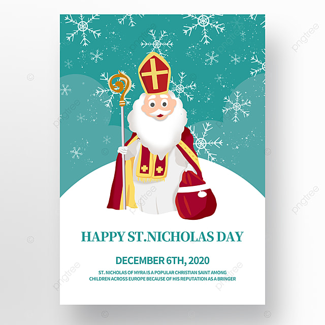 hand drawn illustration saint nicholas festival poster