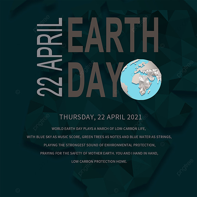 black earth day elements