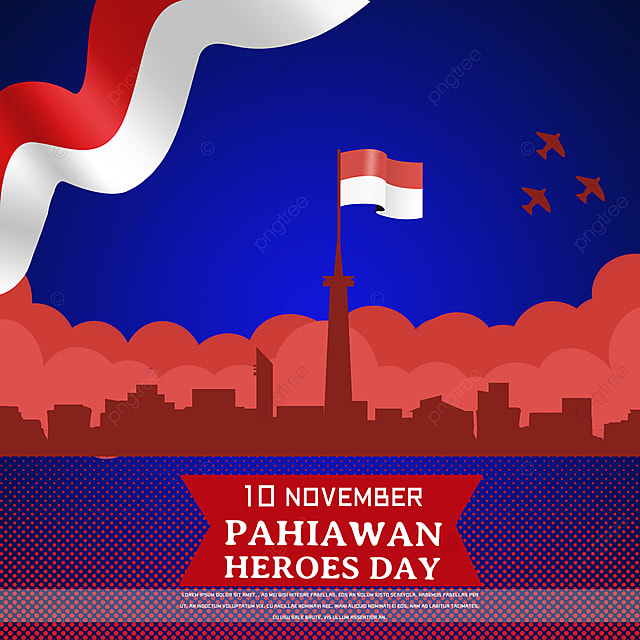 classic building silhouette indonesian heroes day social media