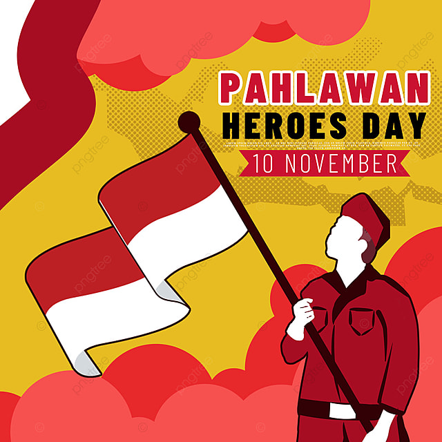 classic hand painted soldier indonesian heroes day social media