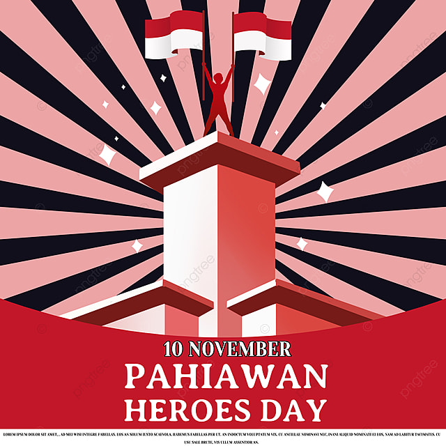 classic red indonesian heroes day social media