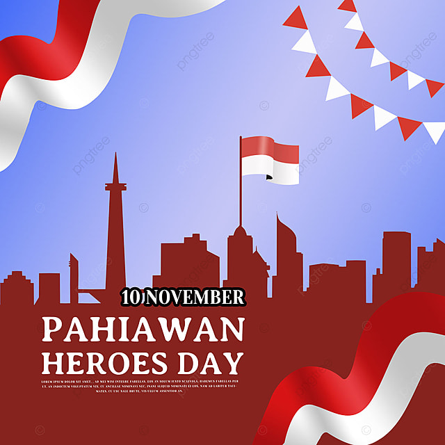classic simple indonesian heroes day social media
