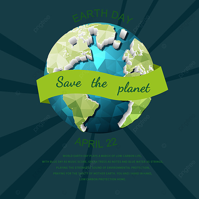 focus on earth day elements