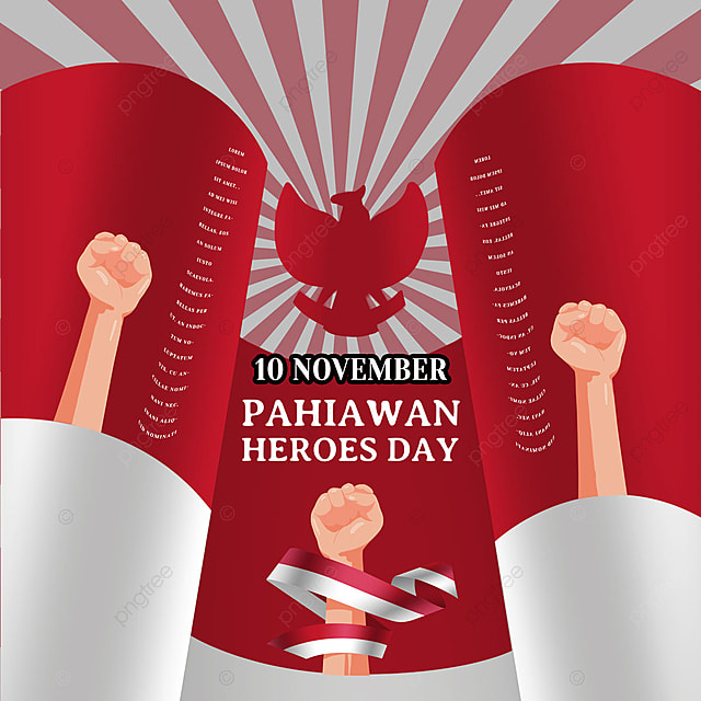 hand drawn fist indonesia heroes day social media
