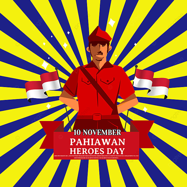 hand drawn military image indonesia hero day social media