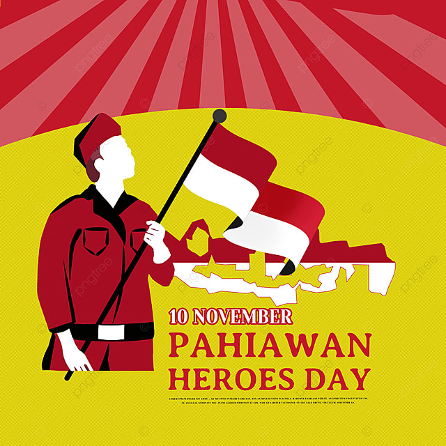 hand drawn soldier indonesian heroes day social media