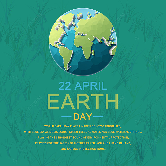low carbon earth day elements