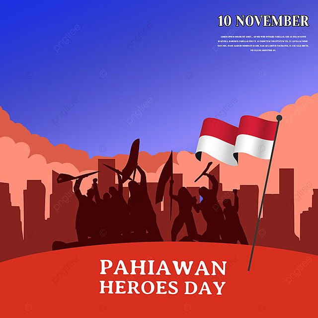 red character indonesian heroes day social media