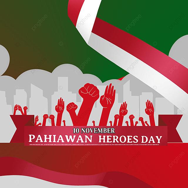 red gesture indonesian heroes day social media