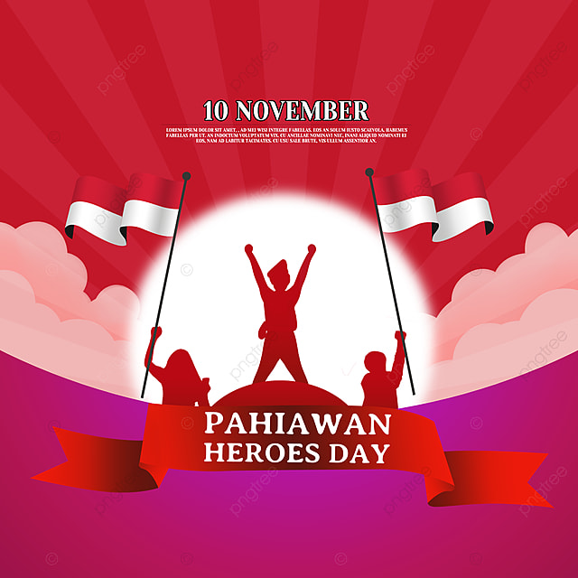 red soldier silhouette indonesian heroes day social media