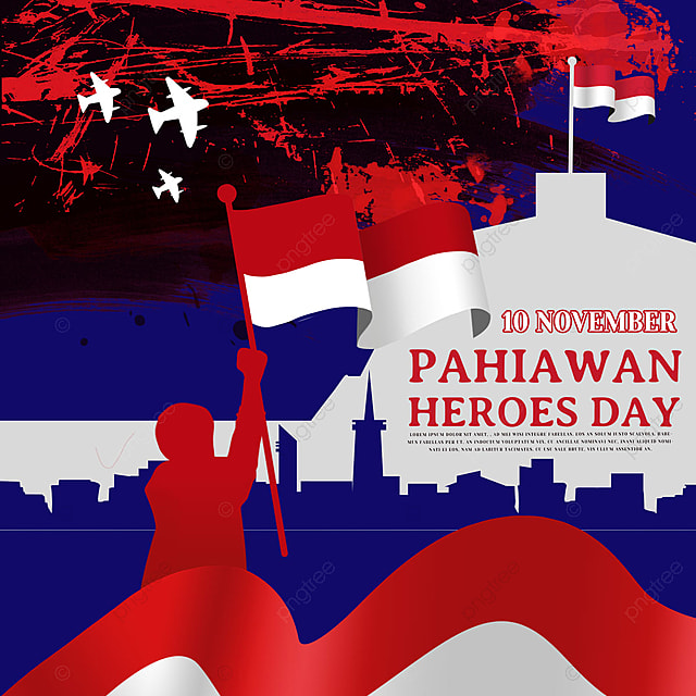 soldier silhouette indonesia hero day social media