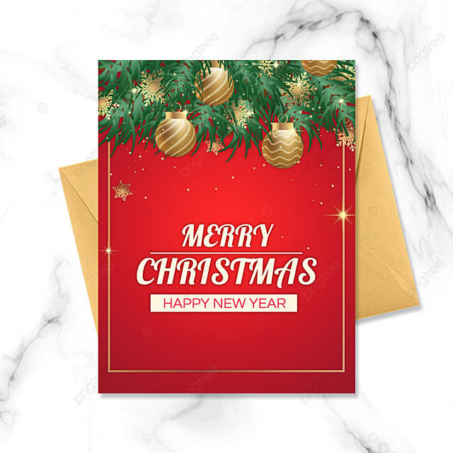 exquisite red christmas card