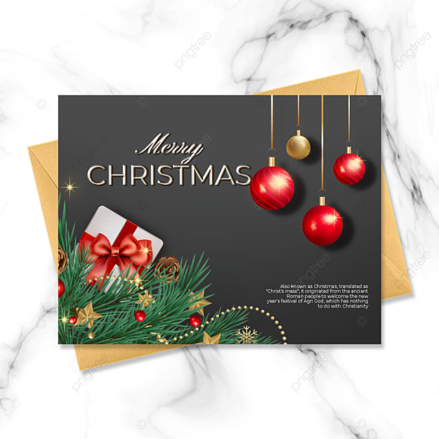black simple style exquisite three dimensional christmas card