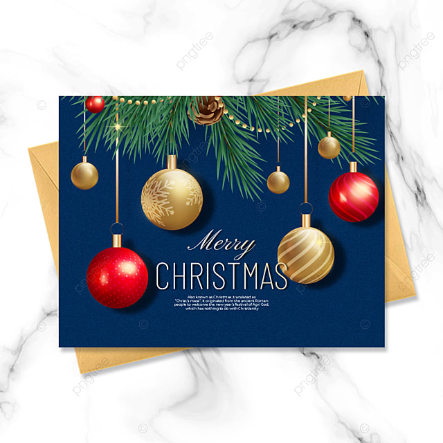blue stylish exquisite three dimensional christmas card