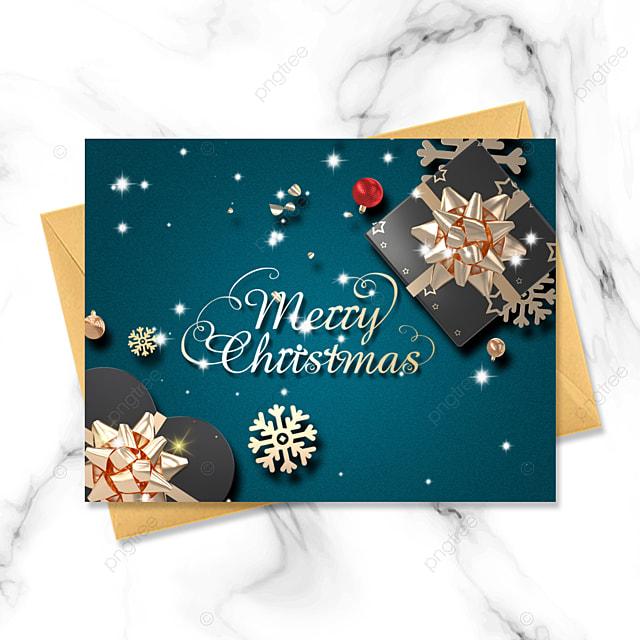 dark blue background creative christmas exquisite three dimensional christmas card