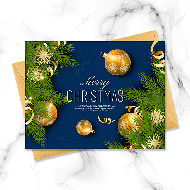 dark blue simple and exquisite three dimensional christmas card