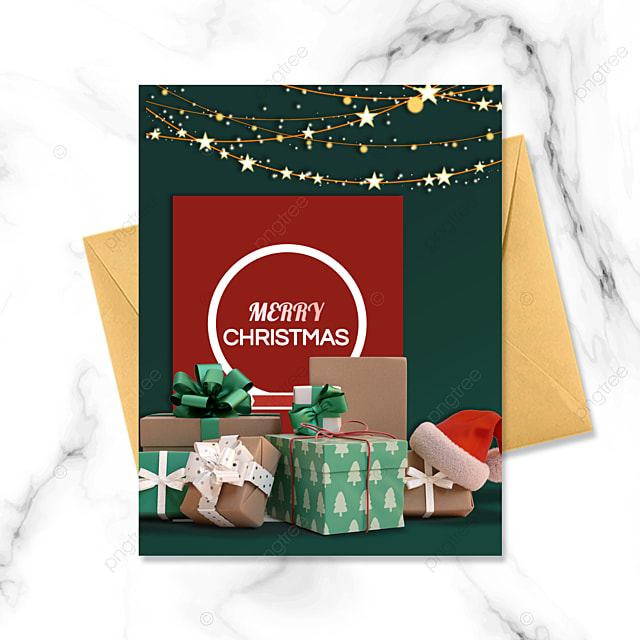 exquisite green christmas card