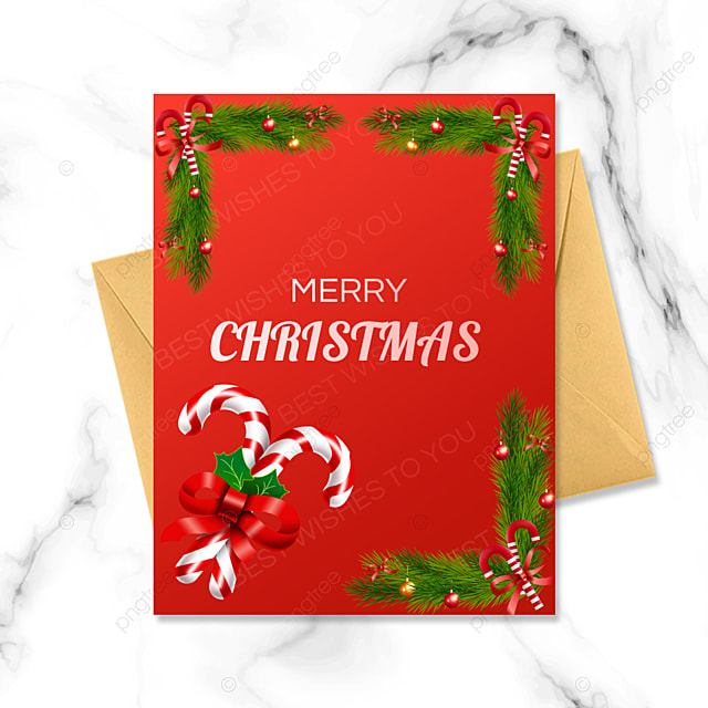 exquisite red background christmas card