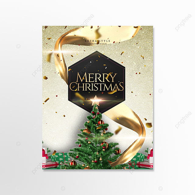 golden fashion exquisite three dimensional christmas card