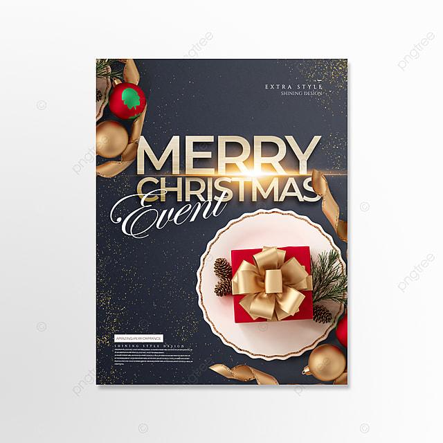 golden light effect creative compact christmas card