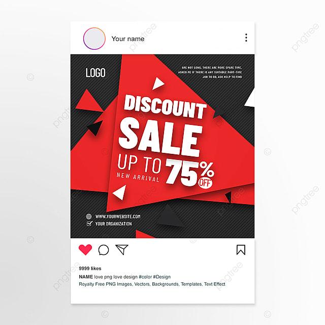 Gambar Media Sosial Promosi Produk Baru Gaya Geometris Datar Modern Templat Untuk Unduh Gratis Di Pngtree