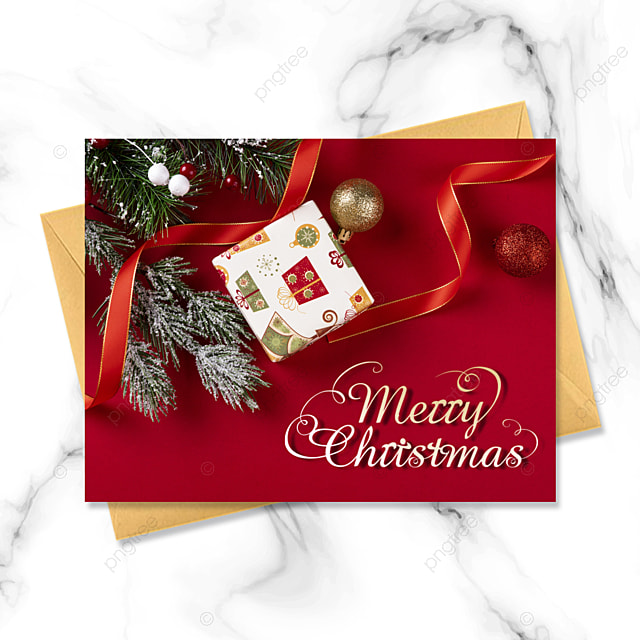 three dimensional exquisite three dimensional christmas card with red background