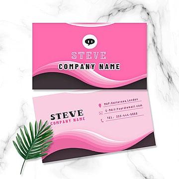 Рябь тренд визитка розовый градиент рябь Шаблон
