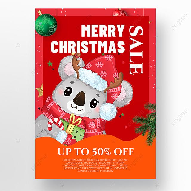 animal element christmas holiday poster
