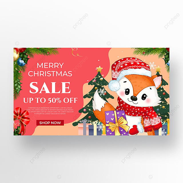 christmas holiday poster with christmas tree elements