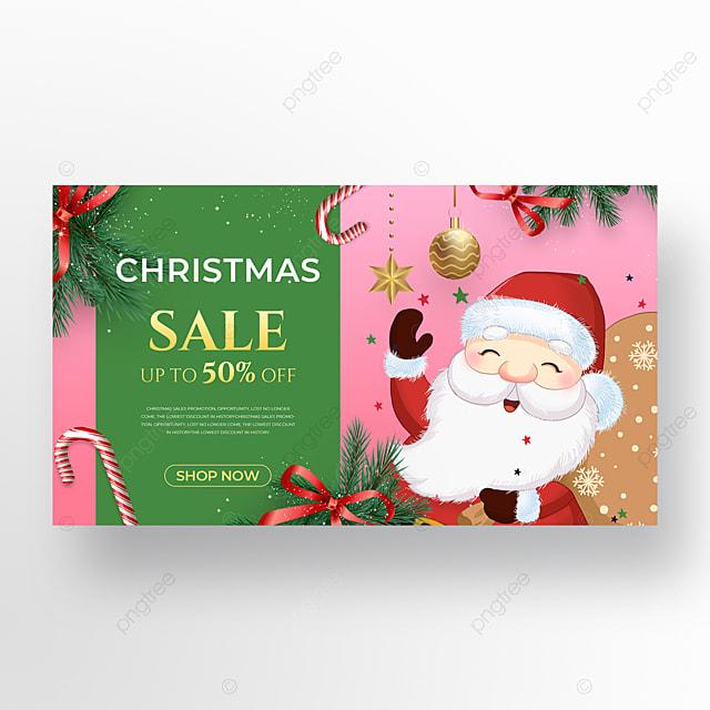 cute santa element christmas holiday poster
