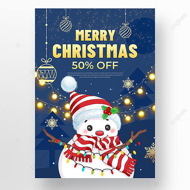 dark blue background christmas holiday poster