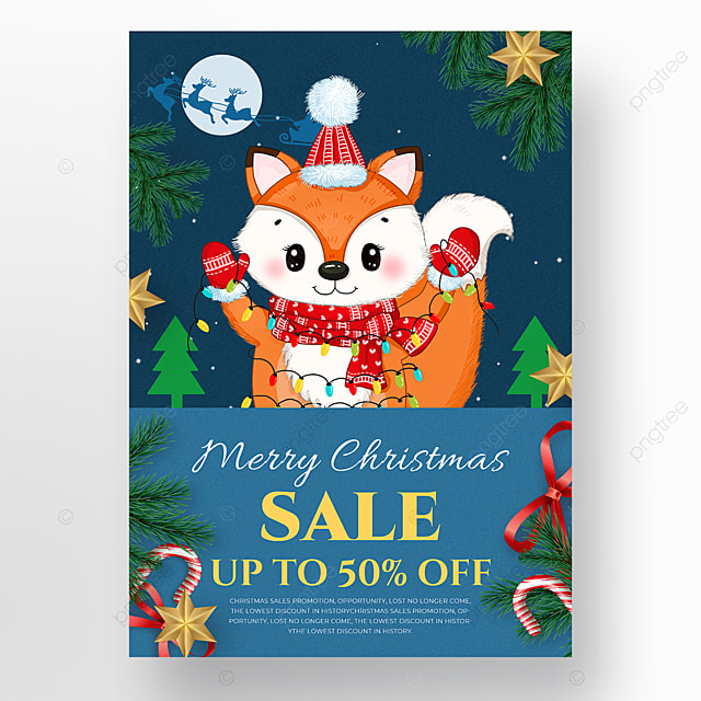 fox element christmas holiday poster