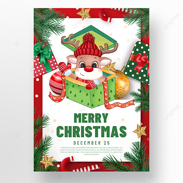 gift box element christmas holiday poster