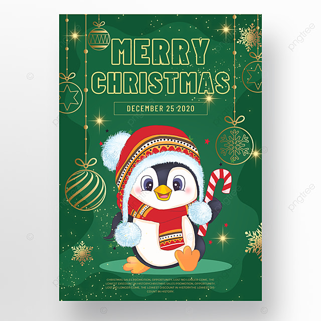 green background christmas holiday poster
