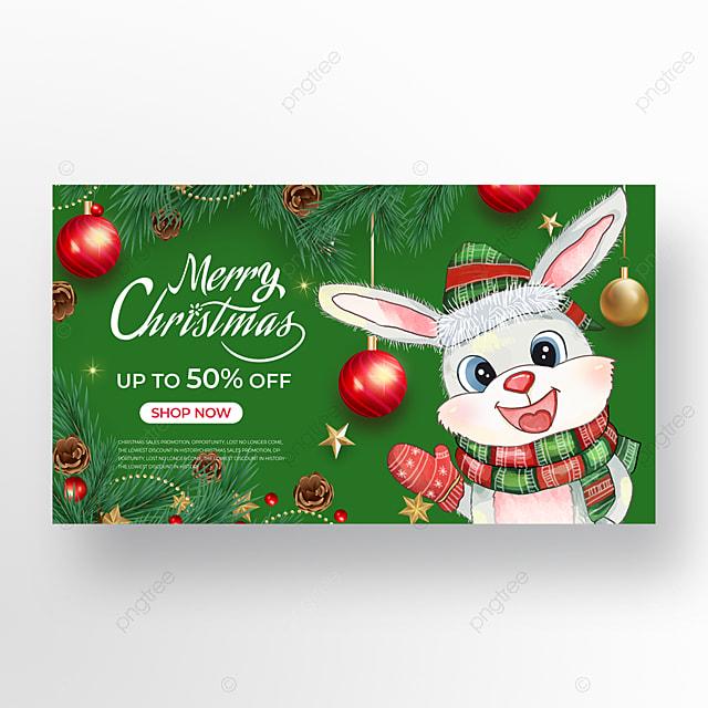 green christmas promotion banner design