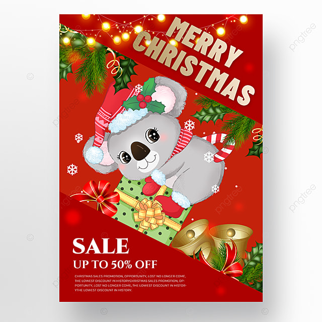 koala element christmas holiday poster