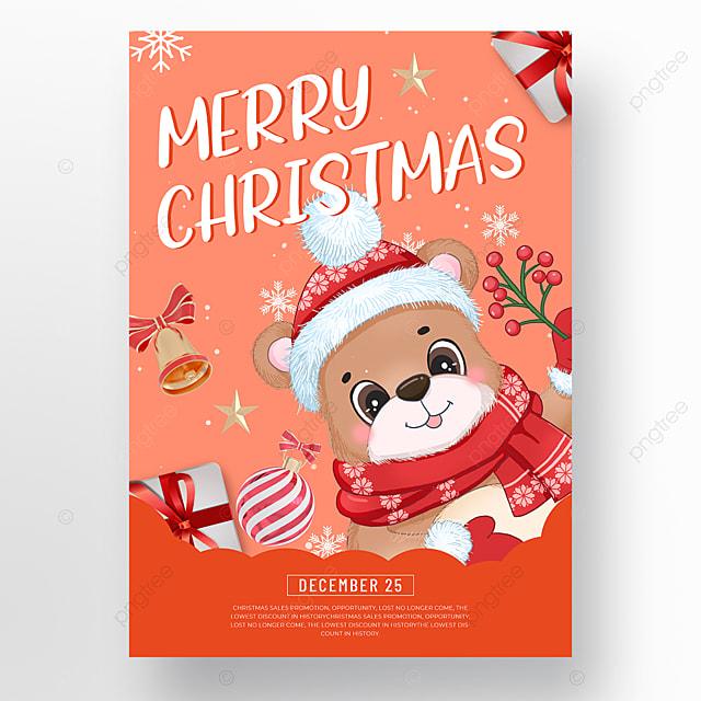 orange christmas holiday poster
