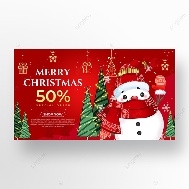 red christmas promotion holiday poster
