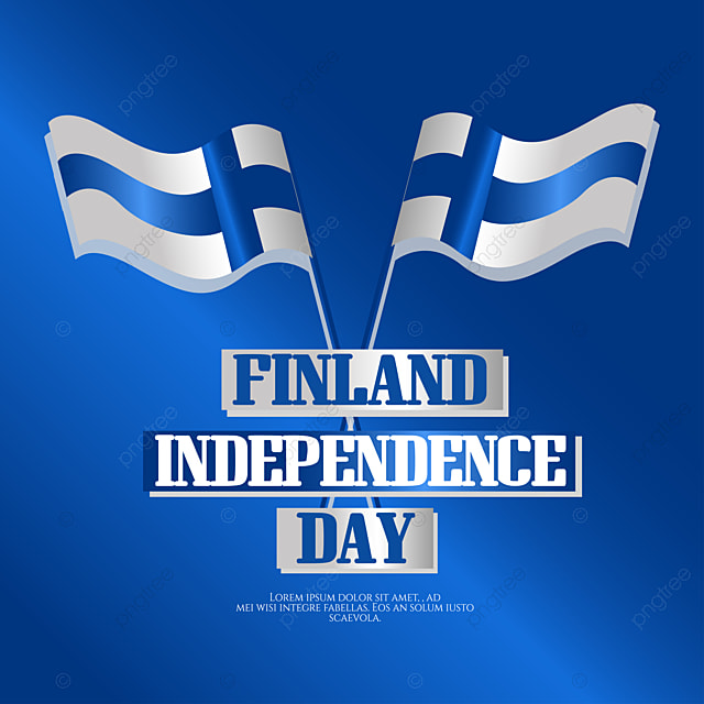 finland independence day hand drawn gradient social media