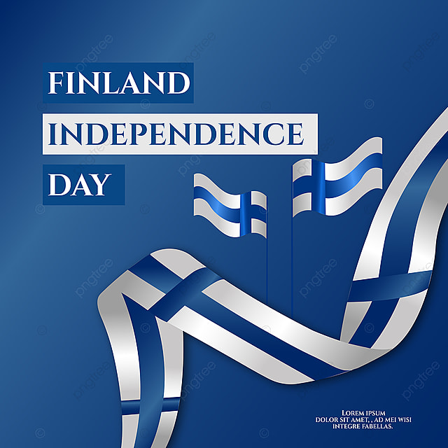 gradient blue hand drawn finland independence day