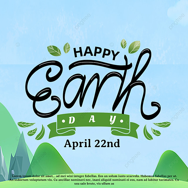 green hand drawn earth day holiday template