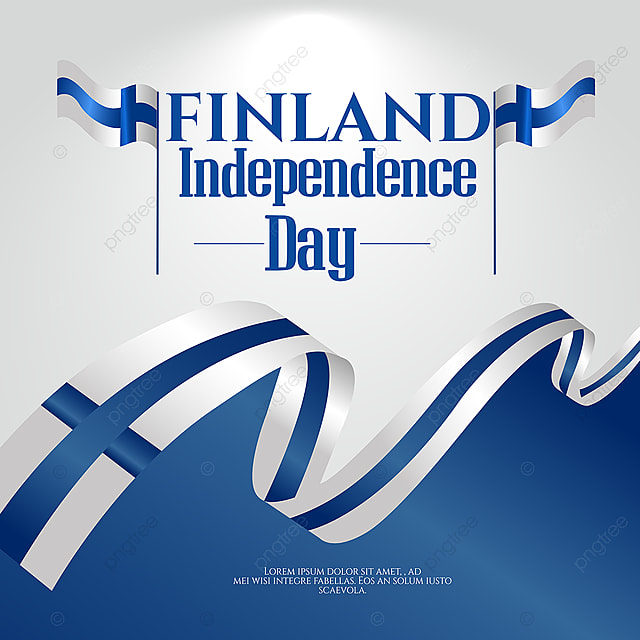 hand drawn gradient blue finland independence day