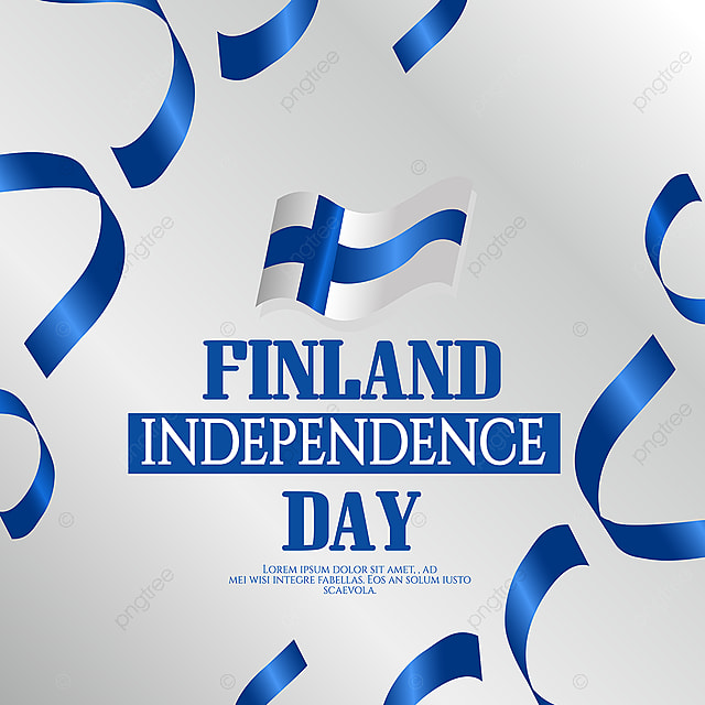 hand drawn ribbons finland independence day